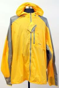 NWT EDDIE BAUER Yellow RIPPAC JACKET Packable Waterproof Outdoor Sport TALL 4XL