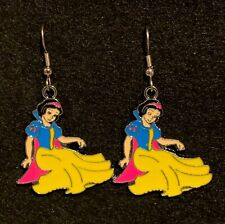 SNOW WHITE Earrings Stainless Hook New Princess Dress Seated (A)