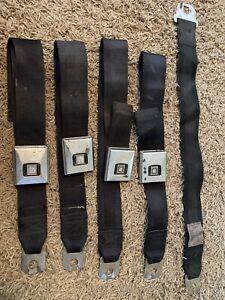 1969 Chevelle Camaro Black Deluxe Seat Belts