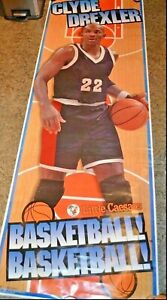 "HOUSTON CLYDE DREXLER POSTER 75"" X ""26 SEALED PORTLAND PHI SLAMMA JAMMA NBA HOF"