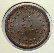 RARE PORTUGAL 1920 COIN 5 CENTAVOS