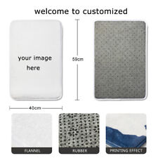 Personalized Bathroom Mat Absorbent Soft Kitchen Floor Area Rug Non-slip Carpet