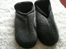 xl grey memory foam slipper rubber sole men's size 11-12 extra comfy & thick NEW