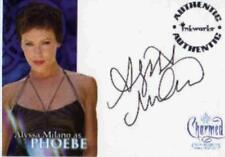 Charmed Conversations Auto Card A1 Alyssa Milano as Phoebe