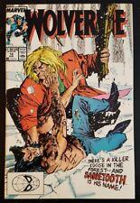 WOLVERINE #10 (1989 MARVEL) *1ST WOLVERINE & SABRETOOTH BATTLE* NM