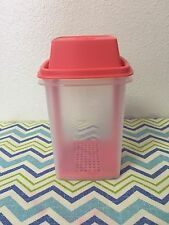 Tupperware Pick-A-Deli Pickle Olive Pepper Keeper Sheer w/ Coral 1qt New!