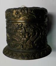 Antique Ornate Floral Bronze String Holder Dispenser w/ String