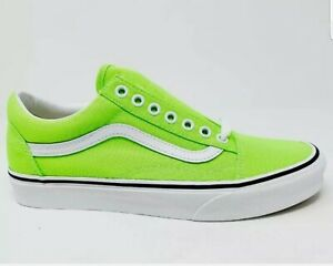 Vans Old Skool Neon Gecko Green & White Skate Shoes
