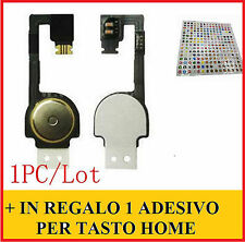 RICAMBIO TASTO CENTRALE HOME PER APPLE IPHONE 4 4G FLAT FLEX  MEMBRANA FLET
