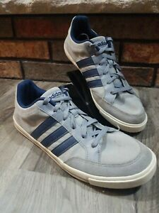 Adidas NEO Label Low Tops Sneakers Men's Size 10 Gray White 3 Strip Shoes 2015
