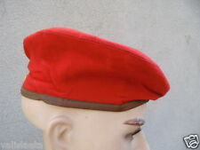 BERET ROUGE FANTAISIE 3 COUTURES GUERRE INDOCHINE