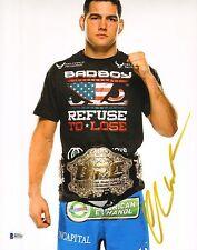 Chris Weidman Signed UFC 11x14 Photo BAS Beckett COA Belt Picture Autograph 168