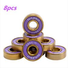 8x Skateboard Wheel Ball Bearing Roller Bearings Abec-11 608 2Rs Cr-Mo &Titanium