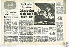 Coupure de presse Clipping 1975 (2 pages) Christophe Colomb