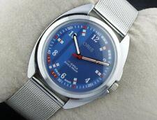 Vintage Oris winding excellent blue men's Swiss working wrist watch 36mm