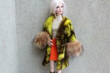 ~Jet Black Genuine Mink Fur Wrap Stole 4 Gene Sydney Sybarite KD dolls~dimitha~