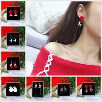 Christmas Earrings  Tree Bell Snowflake Pin/Ear Cuff Stud Earring Xmas Decor~