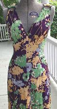 Vintage 60S romantic Floral Maxi Dress handmade - Small