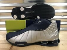 9003c33df7e1 Nike Shox Bb4 ID 2005 Vince Carter OG VC Shoes Silver Navy Blue Sz 12 (