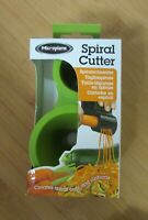 NEW MICROPLANE Spiral Cutter Green Spiralizer Vegetable Spirals Veggie Pasta