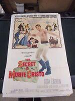 Vintage 1 sheet Movie Poster The Secret Of Monte Cristo 1961 Rory Calhoun
