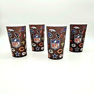 NFL Plastic Tumbler 4 Cup Set 16oz Football Drinkware Party 31 Teams Fan