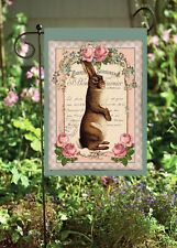 Standing Easter French Rabbit Double Sided Soft Flag *Garden Size* Fg1222
