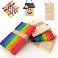 50Pcs Craft Sticks Popsicle Sticks Tongue Depressors Jumbo Original Timber #A55