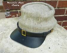 US Civil War Reenactor Confederate South Grey Jean Wool Kepi Hat Cap Size Small