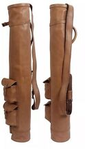 NEW REAL LEATHER GOLF BAG CLUB & BALL BAG TWO POCKETS,HAND MADE