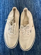 Made In uSa White Authentic Vans Size 7.5 Mens Or A Womens 9 Vintage 80s Sneaker