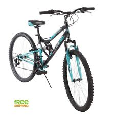"Huffy Mountain Bike 26"" Women Blue Sport Bicycle Shimano 18 Speed New!"