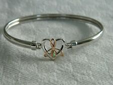 Clogau Sterling Silver & 9ct Rose Gold Dwynwen Opal Bangle RRP £219.00