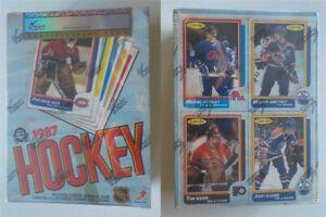 1986-87 O-Pee-Chee Hockey Empty Wax Box Grade EX 5 iCert Gretzky on bottom