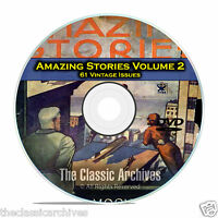 Amazing Stories Vol 2, 61 Vintage Pulp Magazine, Fiction, Hugo Gernsbeck DVD C32