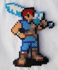 Mercenaire (Fire Emblem) - Bead sprite perler pixel art - Perles à repasser