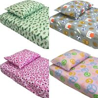 nEw PATTERN THEMED BED SHEETS SET - Cute Kids Room Bedding Sheets Pillowcase