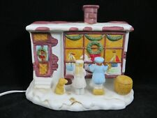 CHRISTMAS VILLAGE  TOY STORE  LIGHTED HOUSE PORCELAIN  EUC
