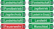 JAGDSCHUTZ LANDWIRTSCHAFT FORSTBETRIEB WUNSCHTEXT Schild Saugnapf Auto Aufkleber