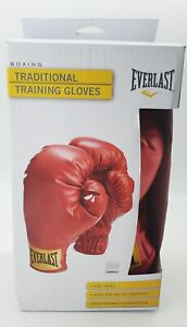 Everlast Small Laceless Boxing Traditional Training Gloves Red A120 BRAND NEW