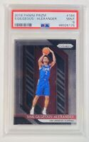 2018 Prizm Thunder SHAI GILGEOUS-ALEXANDER Rookie Card RC PSA 9 MINT Clippers
