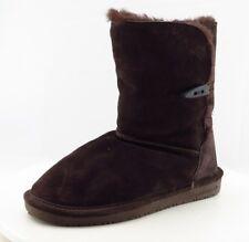 BEARPAW Comfort Winter Boots Mid-Calf Brown Leather Women Sz 7