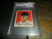1949 Bowman #44 Autographed CHICAGO WHITE SOX Dave Philley PSA 2 PSA/DNA 10 AUTO