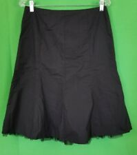 Express Black Lined Skirt With Tulle Under Bottom - Size 6