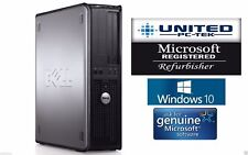 Dell OptiPlex DT/SFF Windows 10 Core 2 2GB DVD/RW 90day warranty PC Desktop WiFi