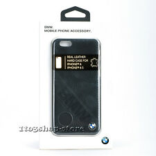 BMW iPhone 6 iPhone 6s Signature Collection Slanted Logo Leather Case Black