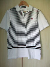 boys age 16 years size large FRED PERRY COTTON STRIPEP POLO SHIRT
