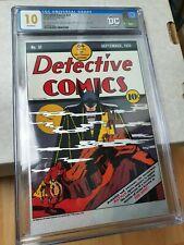 CGC 10 Detective Comics #31 BATMAN GEM MINT Silver Foil FIRST RELEASES
