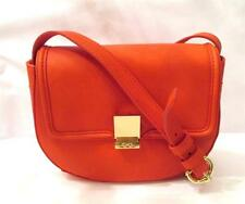 $148 C Wonder Perfect Round Leather Crossbody Purse Shoulder Bag Orange