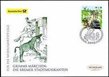BRD 2017: Bremer Stadtmusikanten! Post-FDC der selbstklebenden Nr. 3287! 1703